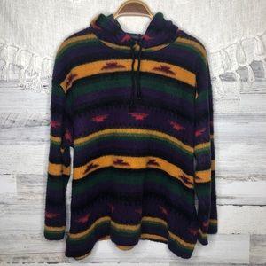 Vintage Aztec Western Boho Hippie colorful hoodie